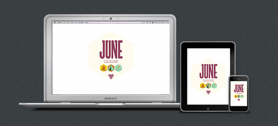June 2013 Desktop Calendar