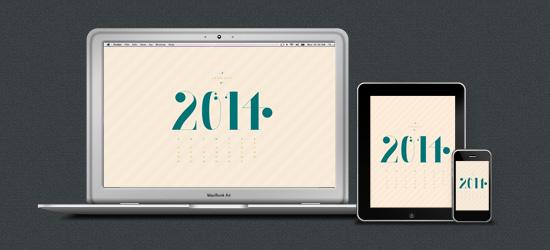 January desktop on Macbook, iPad and Iphone