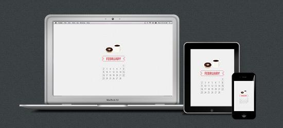 February Desktop on iMac, iPad and iPhone