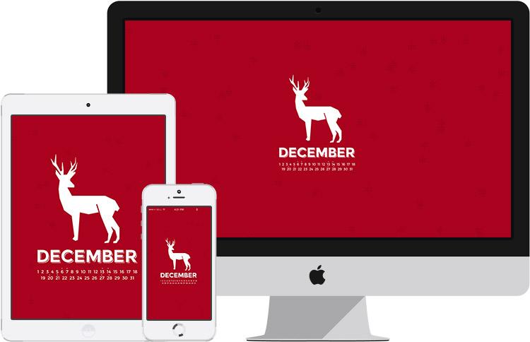 december2014 desktop calendar wallpaper